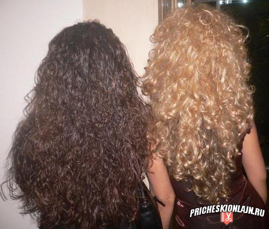 Как сделать длинные кудрявые волосы